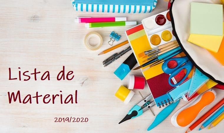 Lista de Material 2019/ 2020