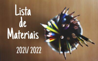Lista de Materiais 2021/ 2022